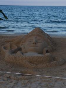 Hindu sand art, Tamil New Year 2013, Trincomalee, Sri Lanka